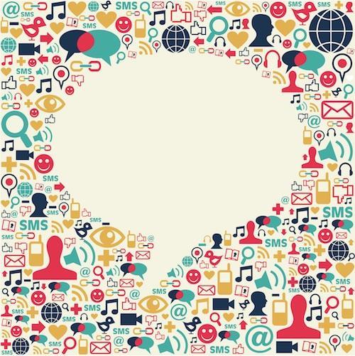 Social speech bubble ()