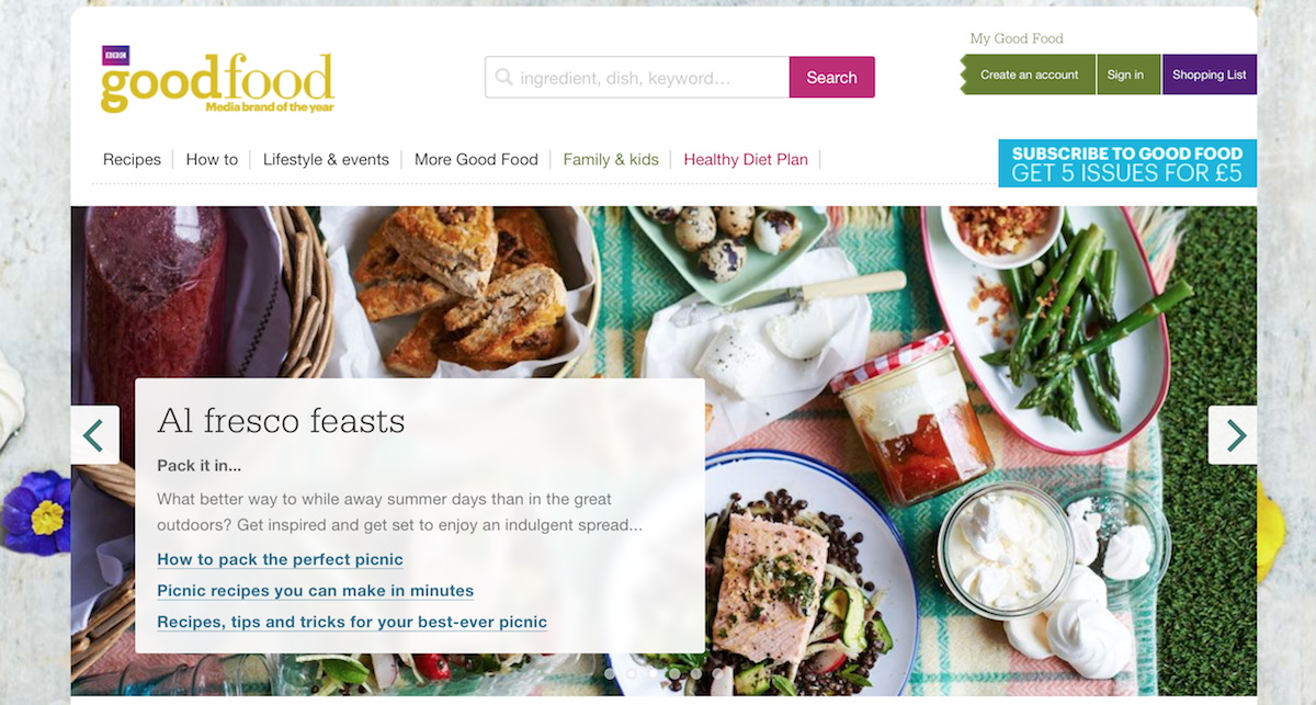 BBC Good Food website ()