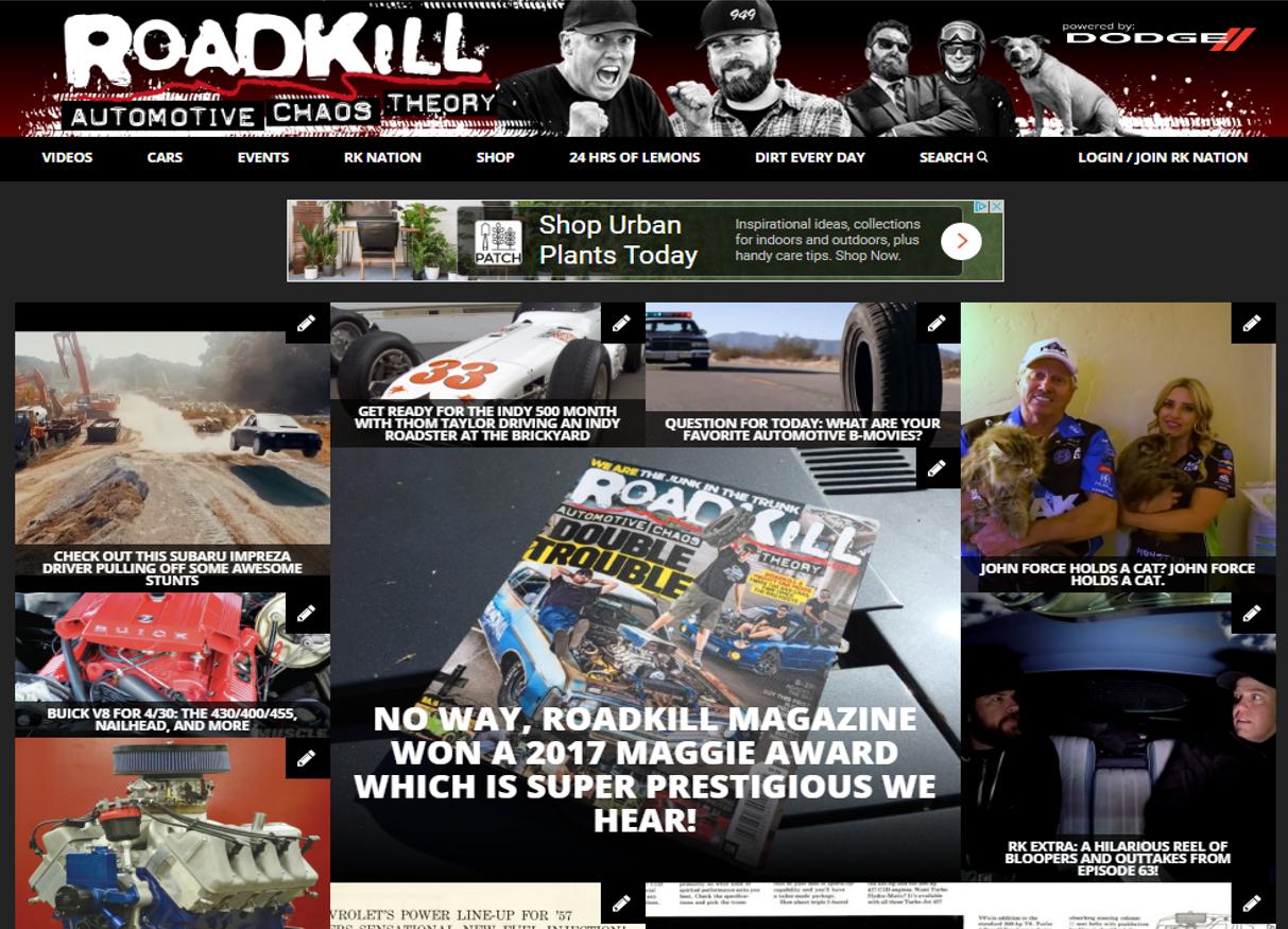 RoadKill website ()