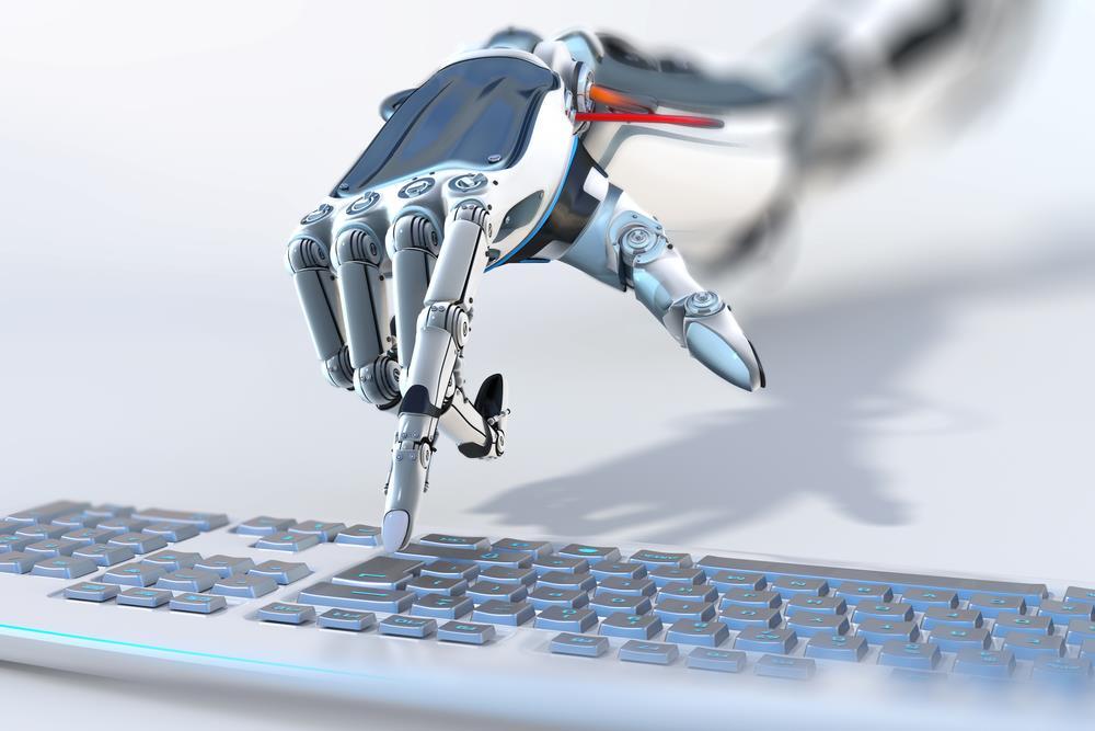 robot writing ()