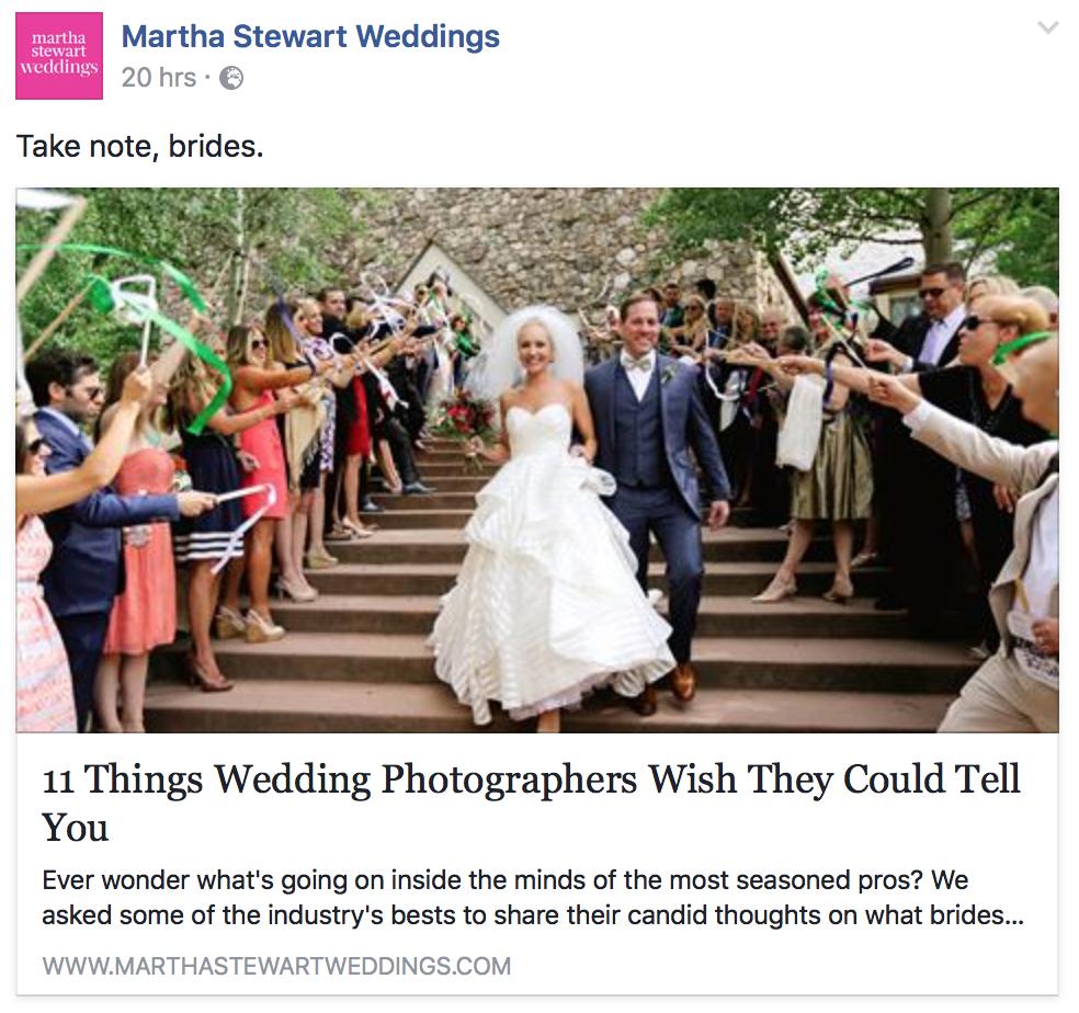 Martha Stewart Weddings FB ()