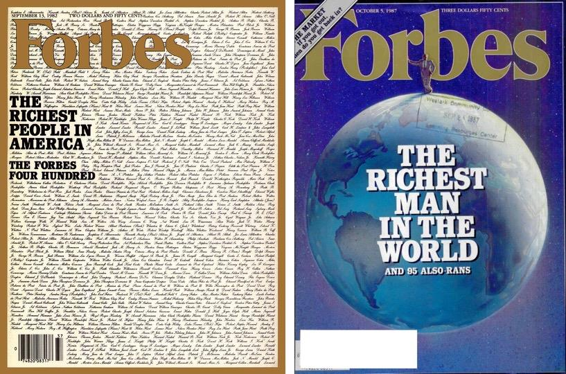 Forbes 1982 and 1987 ()