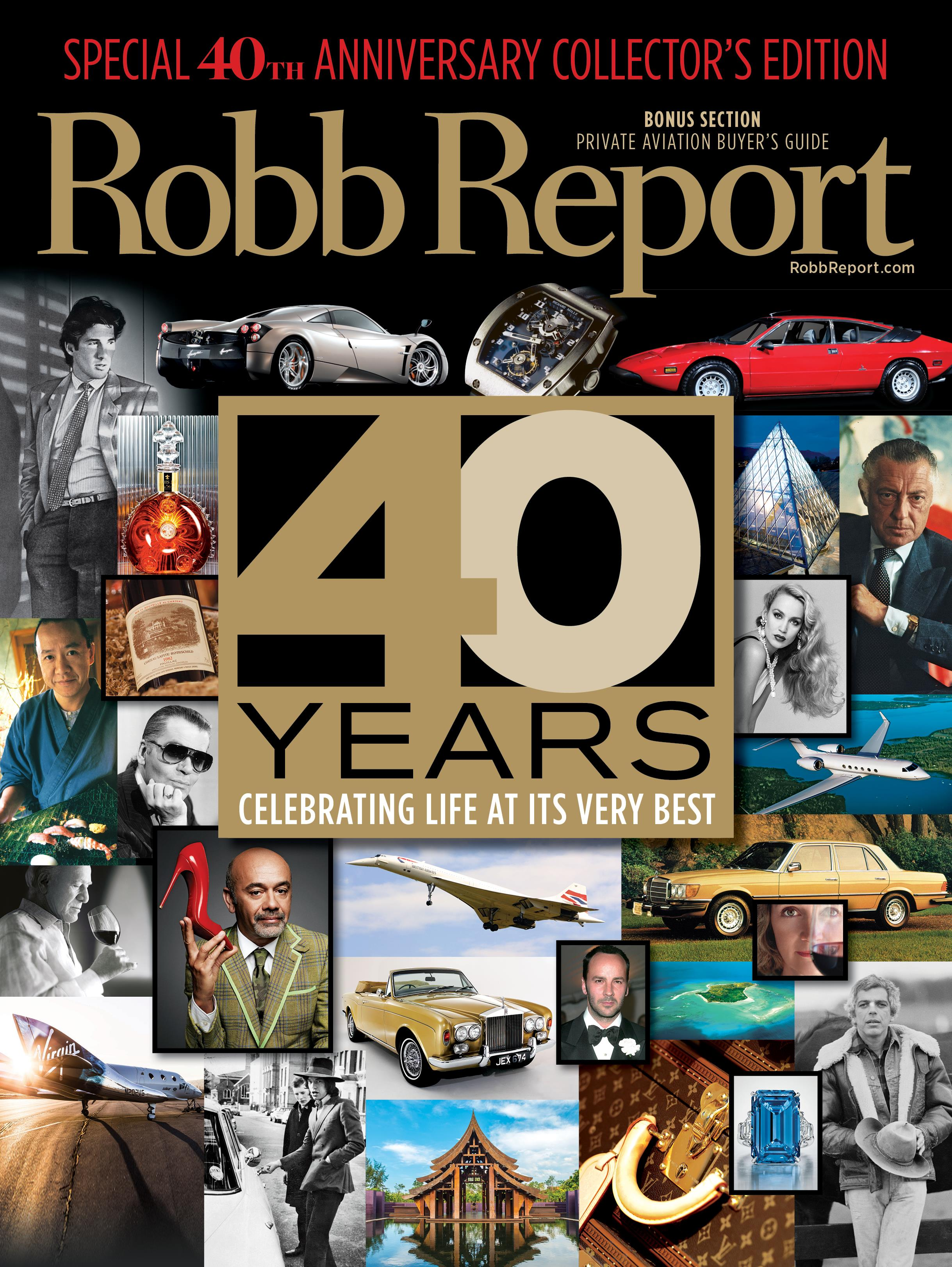 Robb Report 40th cover ()