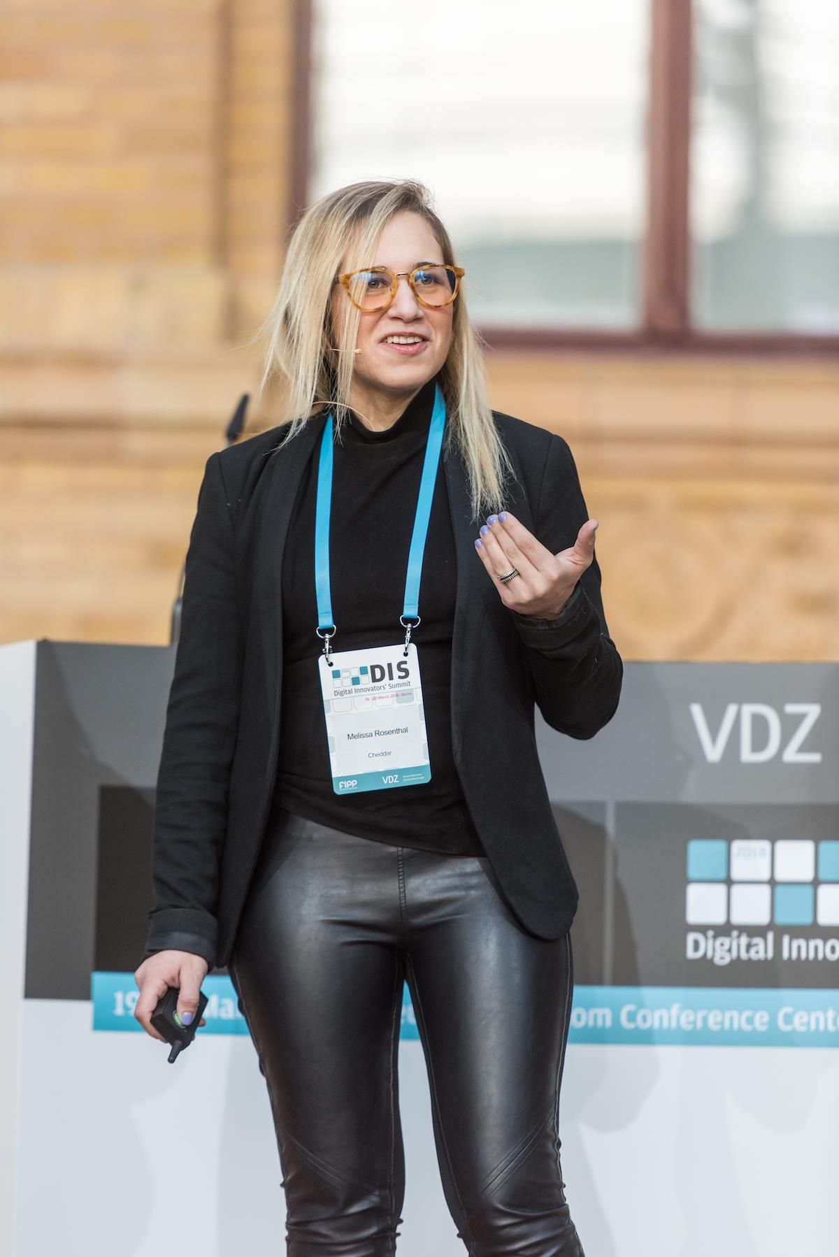 Melissa Rosenthal Cheddar DIS 2018 ()