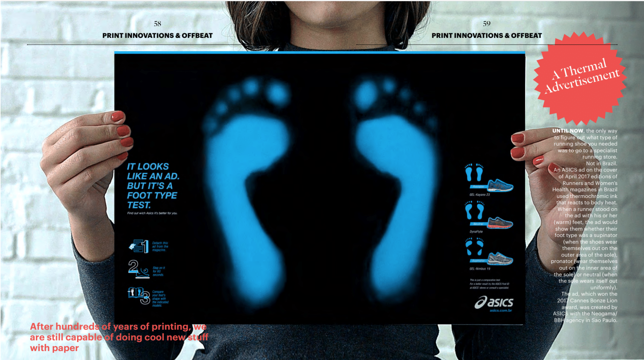Asics print ad ()