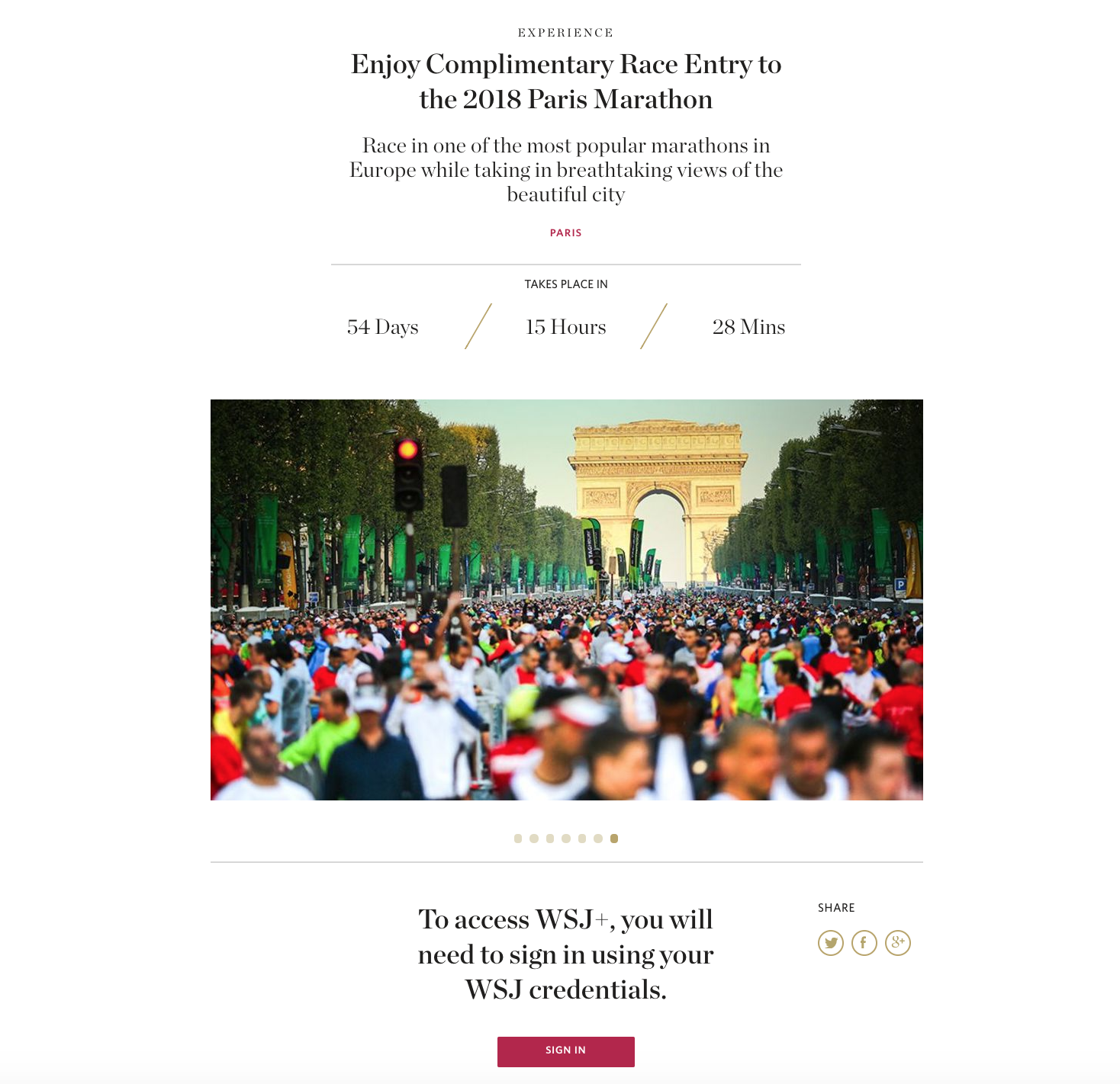 WSJ Paris Marathon ()