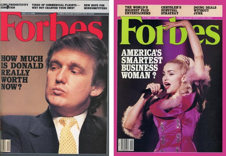 Forbes Trump and Madonna ()