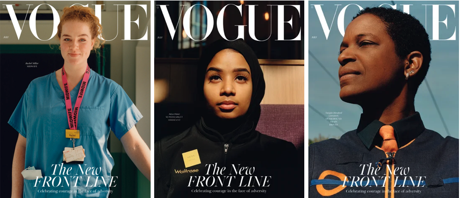 Vogue UK front line workers ()