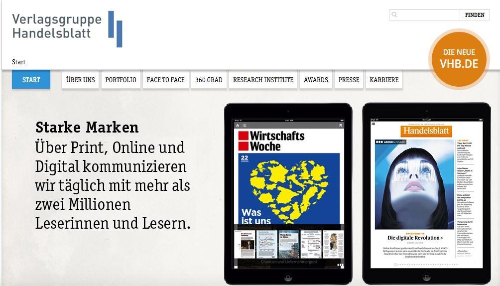 Handelsblatt Group homepage ()