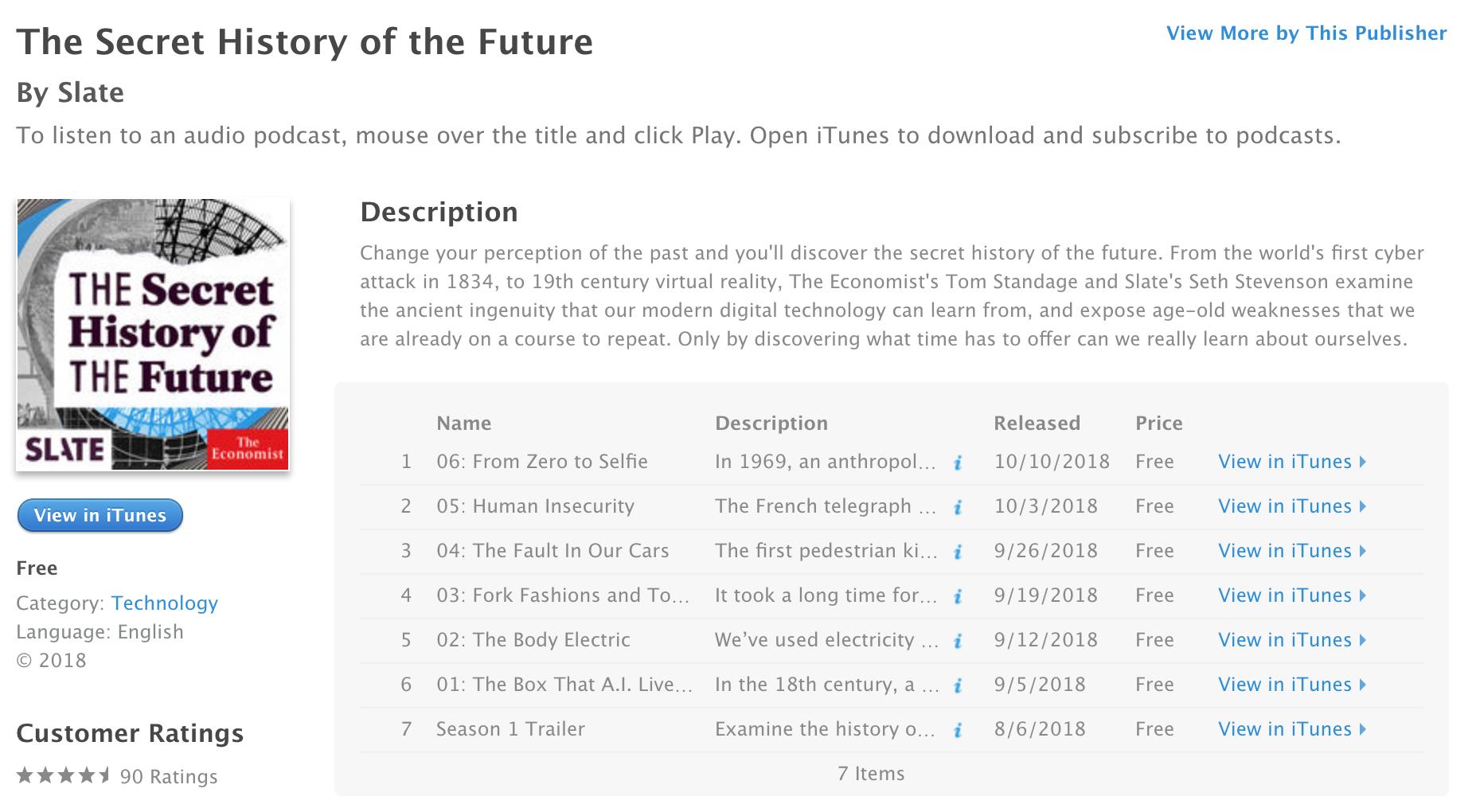 The Economist Slate podcast list ()
