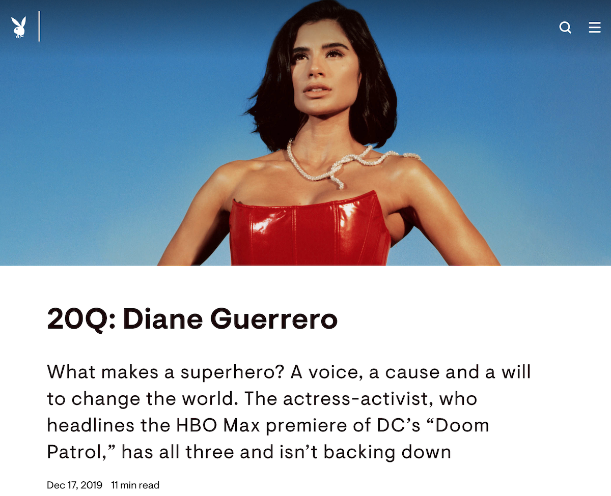 Playboy Diane Guerrero ()