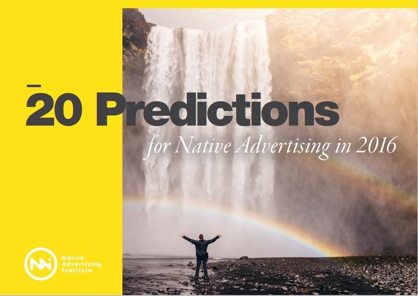 Native Advertising Predictions 2016 ()