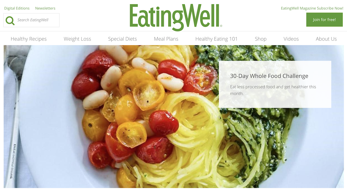 Eating Well website ()