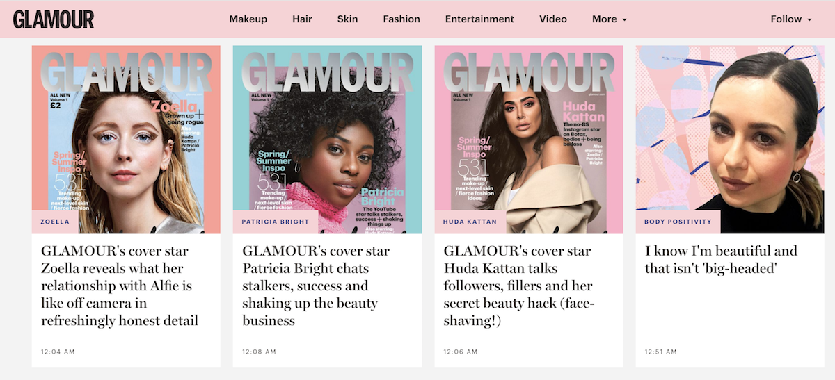 New Glamour site ()