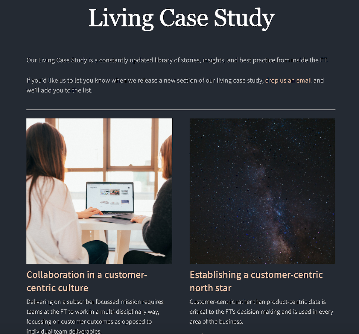 Living case study ()