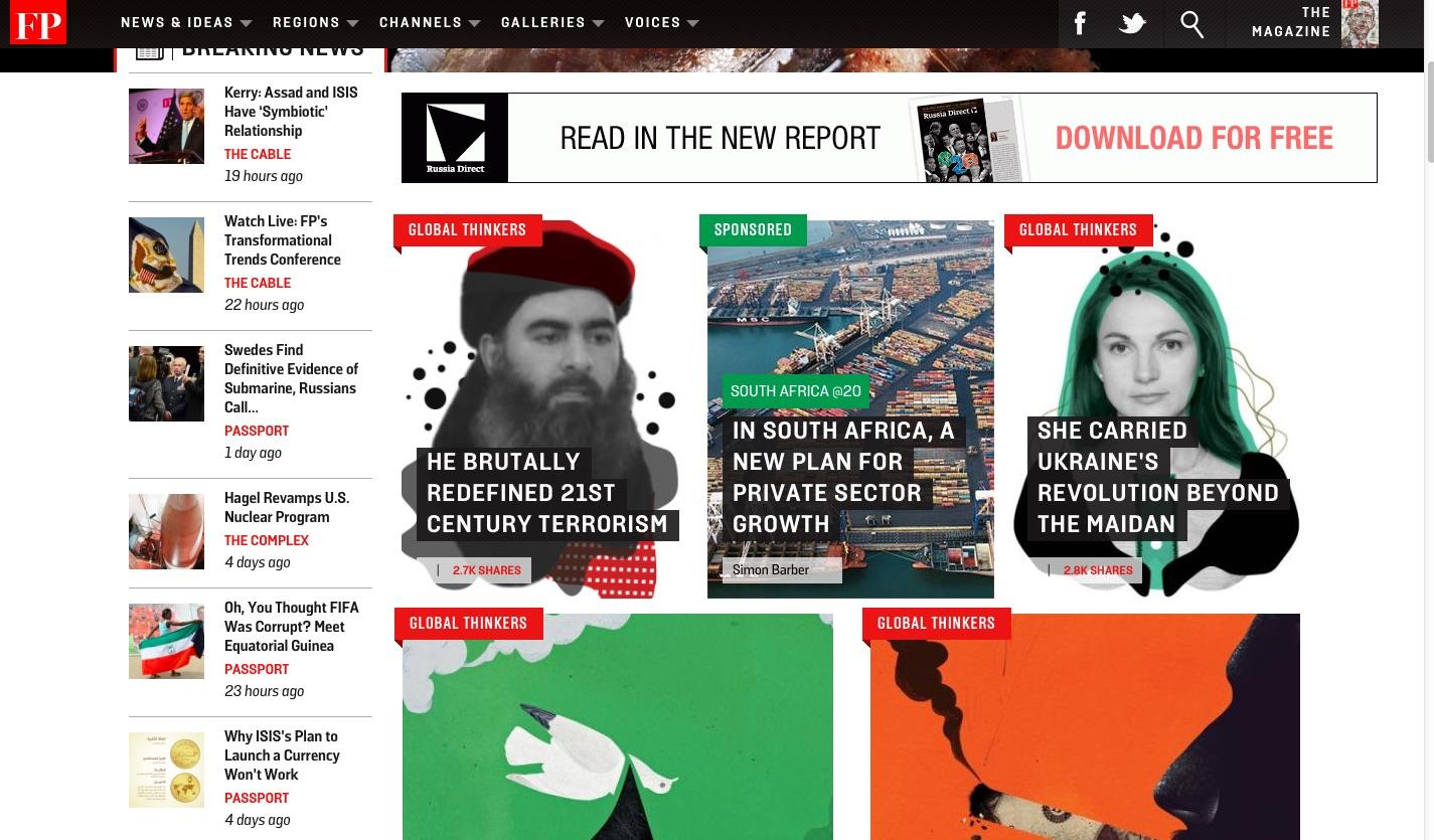 Foreign Policy homepage ()