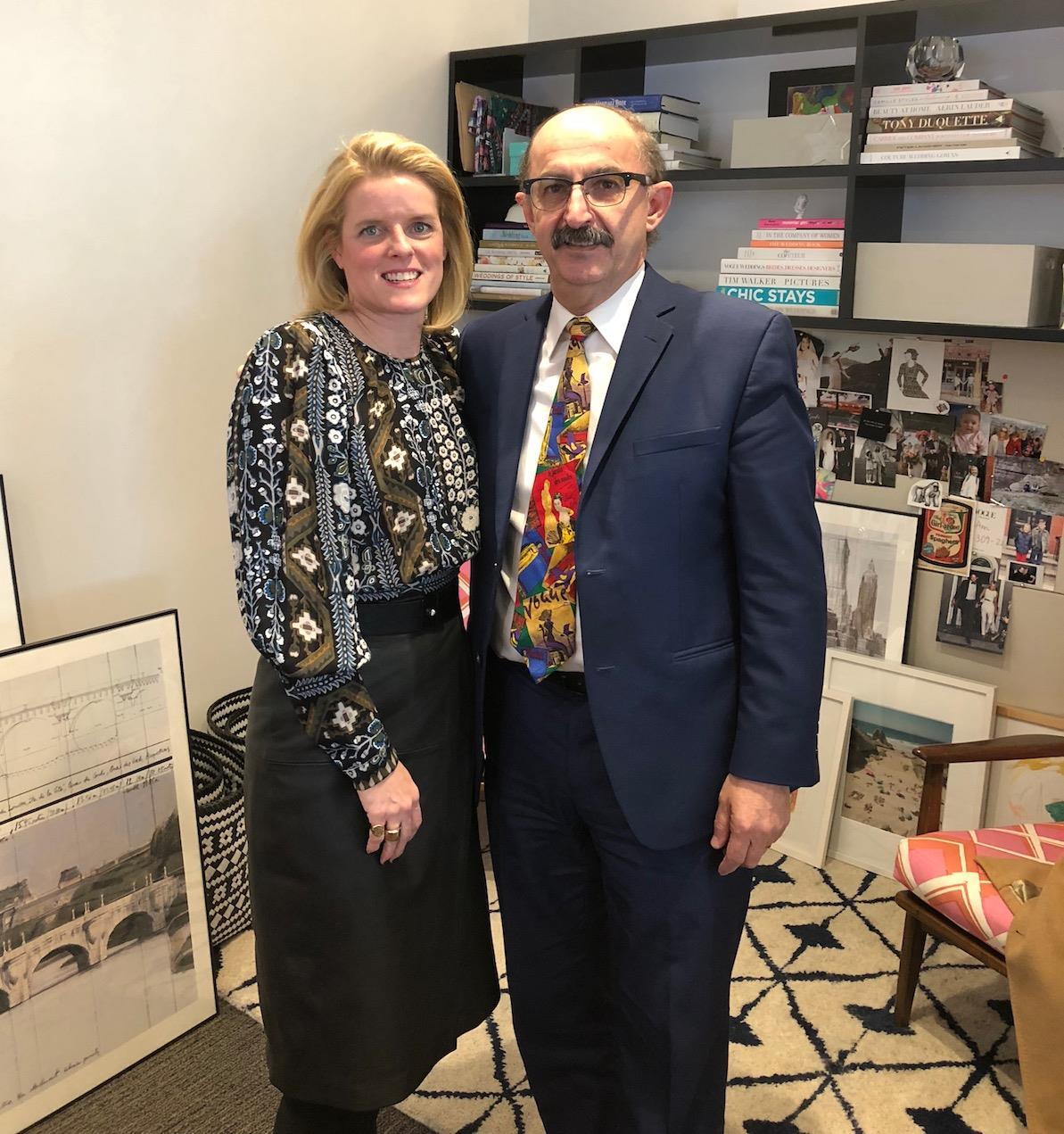 Samir with Brides editor ()