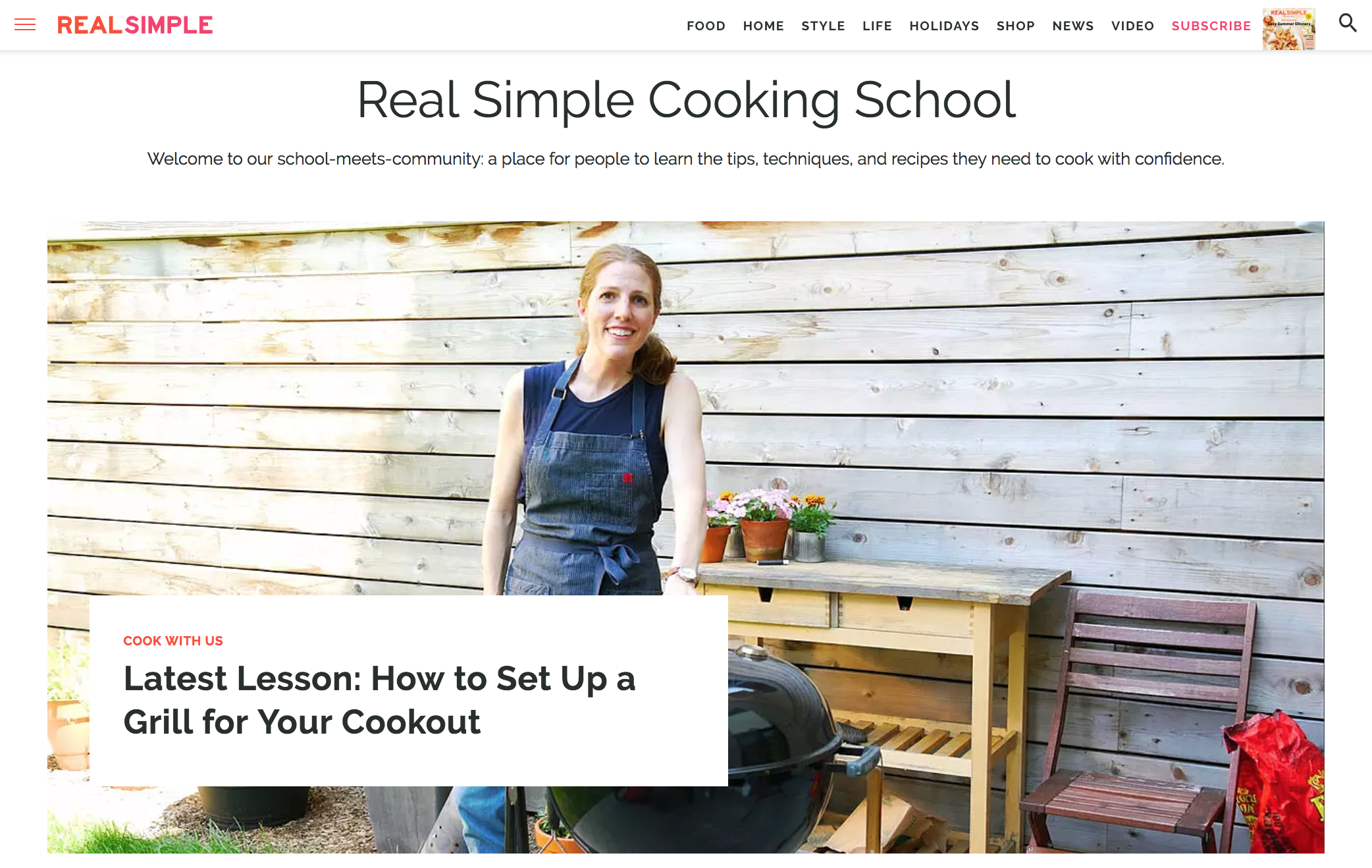 Real simple Cooking School ()