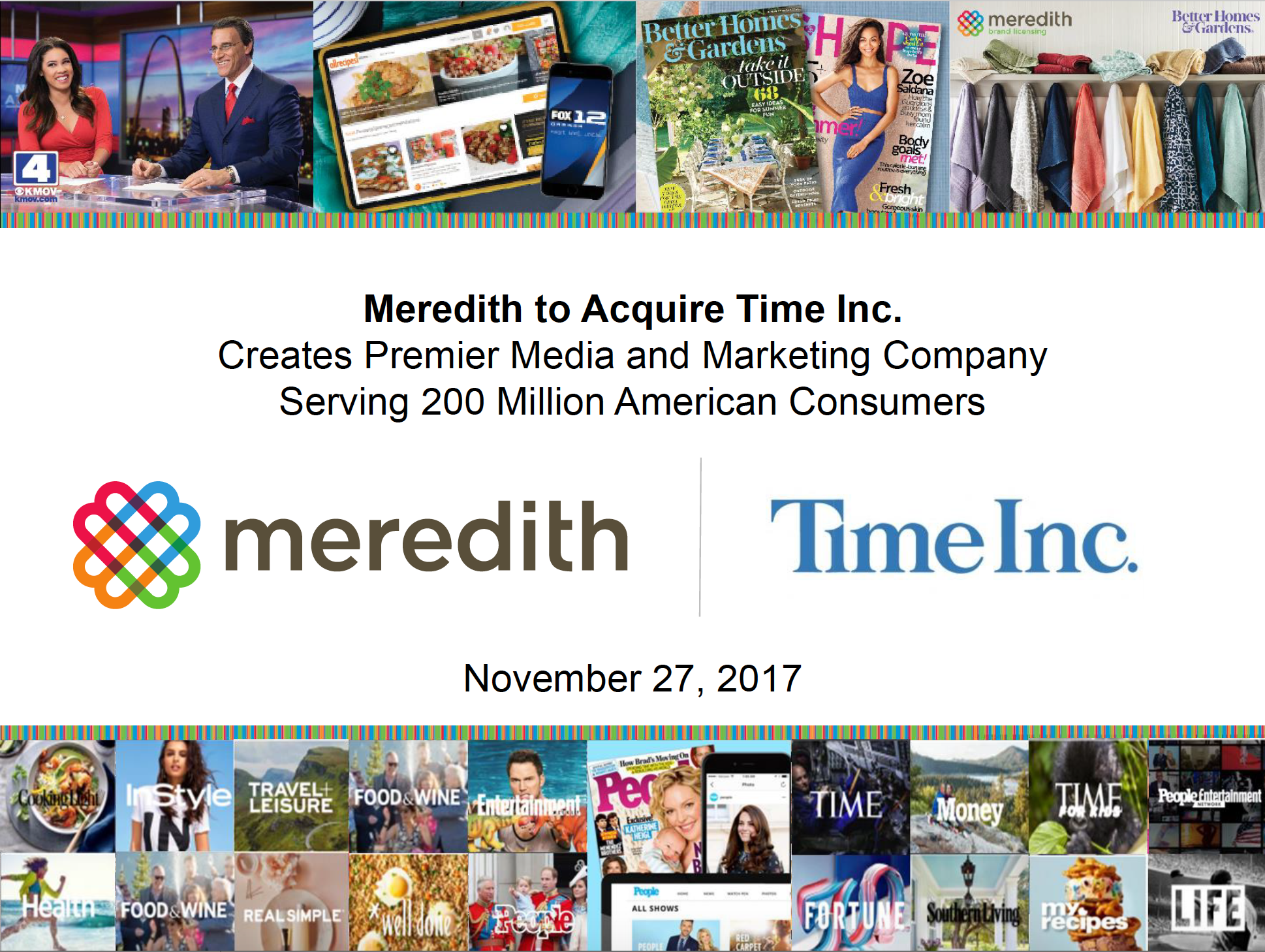 Meredith Time Inc announcement ()