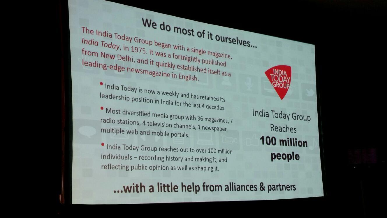 India Today Group reach ()