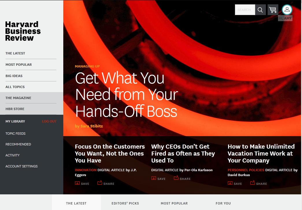 HBR homepage ()