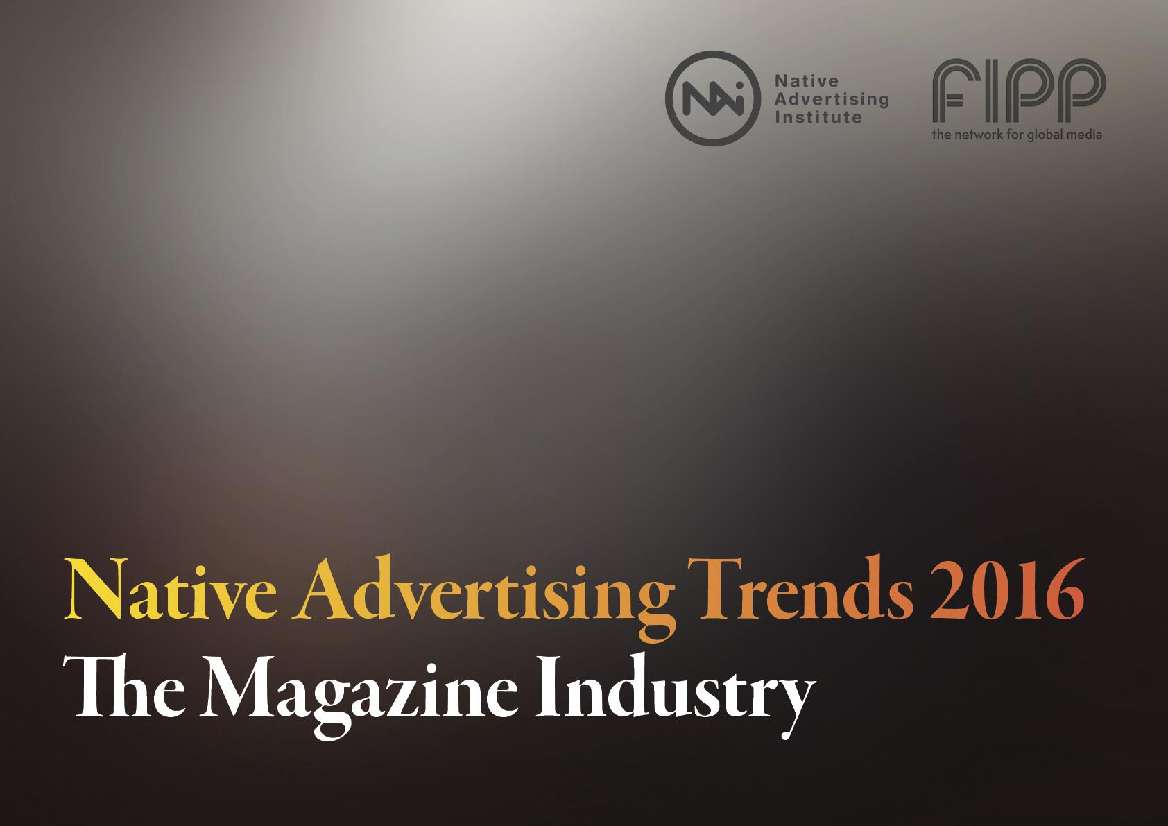Cover Native Advertising Institute Trends 2016 Report (Cover Native Advertising Institute Trends 2016 Report)