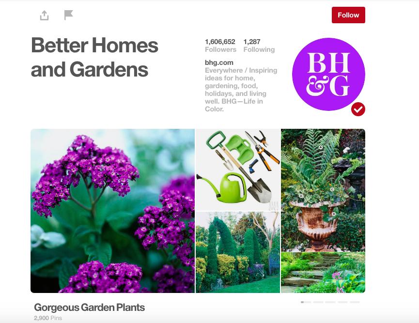 Better Homes & Gardens Pinterest ()