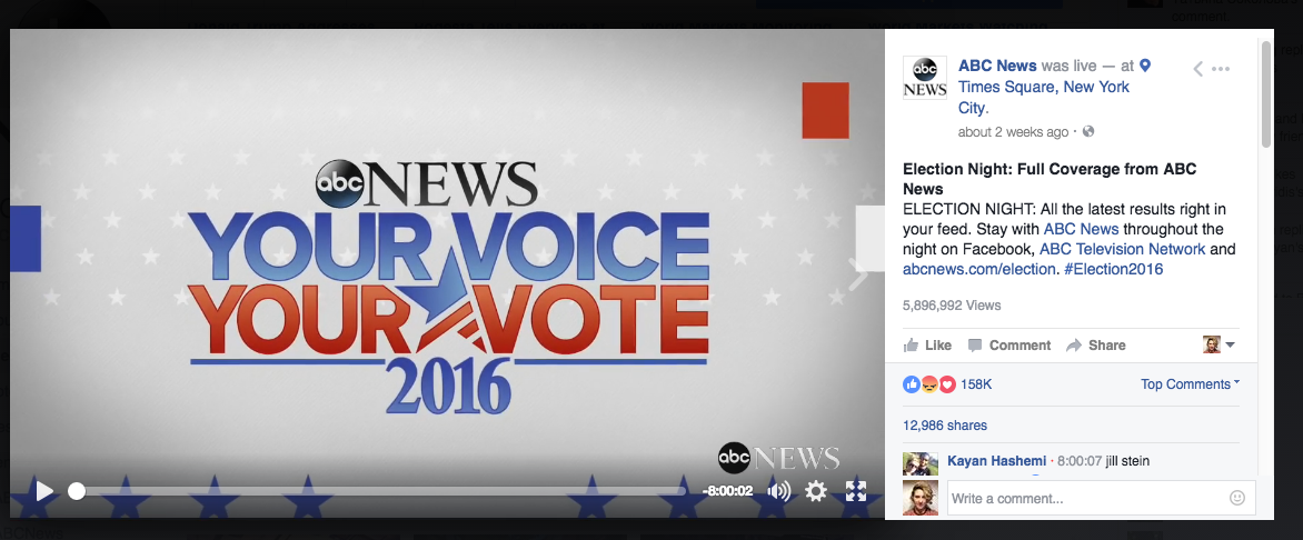 Election night live video ()