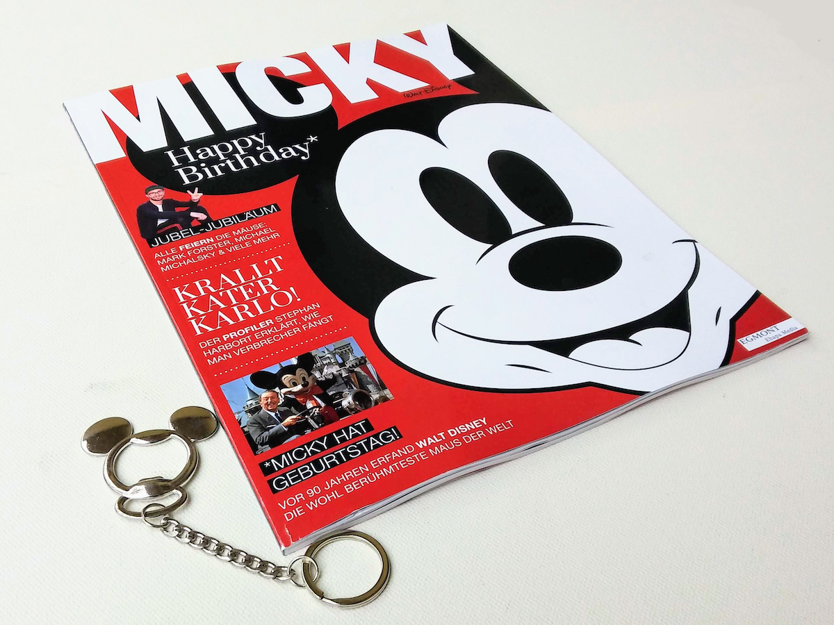 The Publication Of A Once Off Micky Lifestyle Magazine In Germany With Cover Mount Mickey Mouse Shaped Bottle Opener To Celebrate Iconic Walt Disney