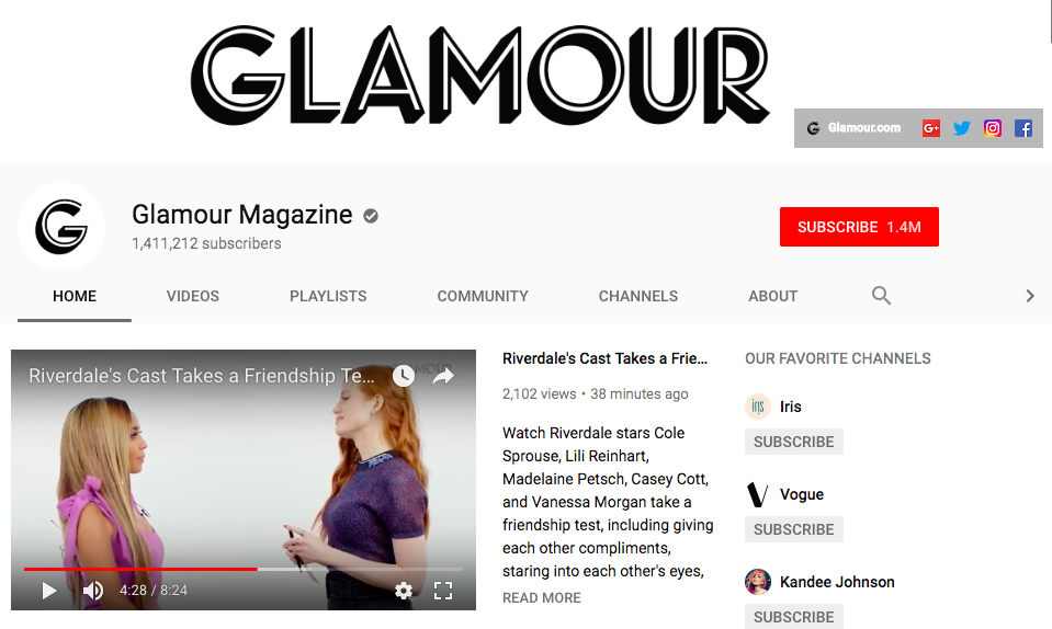 Glamour YouTube ()