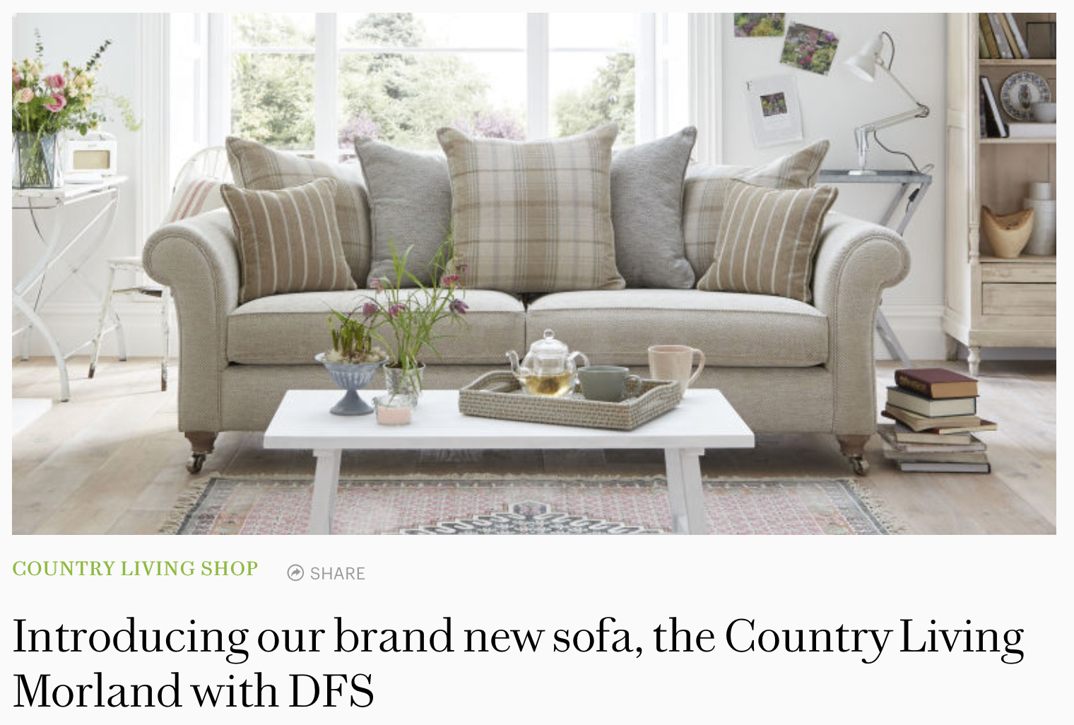 Country Living sofa ()
