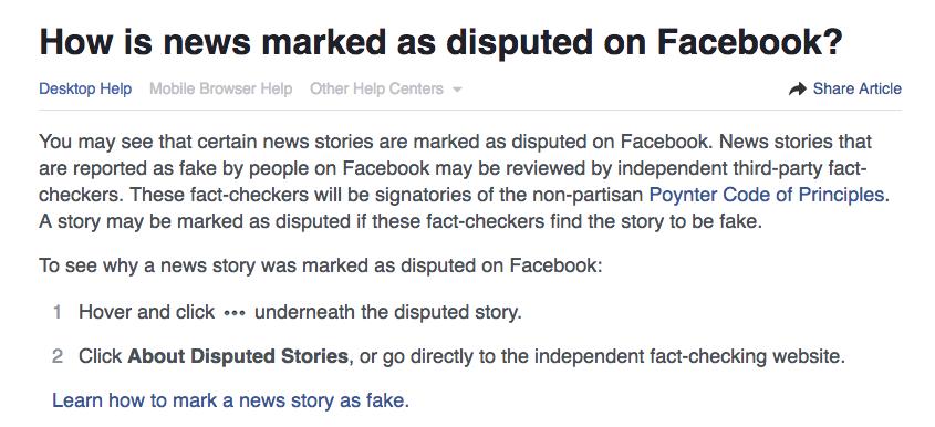 FB mark fake news ()