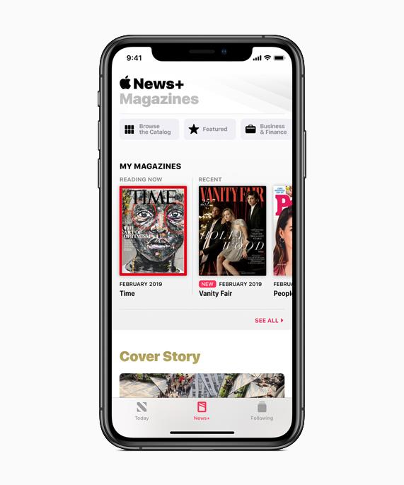 Apple News plus mags ()
