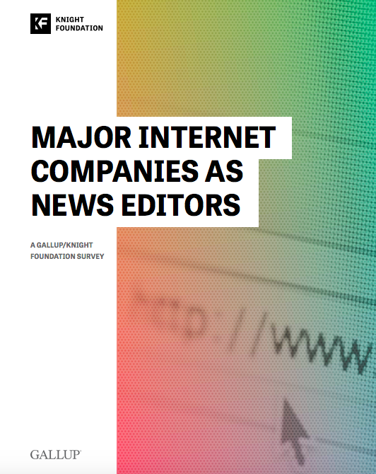 Major internet companies as news editors ()